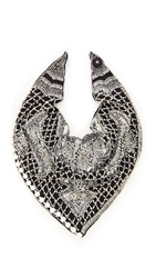 Roarke New York Cowgirl Bib Necklace Black Pearl