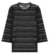 Isabel Marant Almeria Crochet Linen Top Black