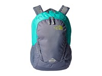 The North Face Women's Vault Folkstone Gray Wild Lime Backpack Bags