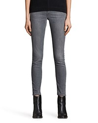 Allsaints Mast Skinny Jeans In Washed Gray