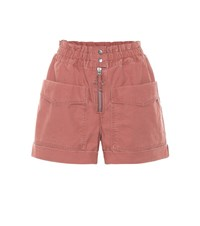 Etoile Isabel Marant Lizy Cotton Twill Shorts Red