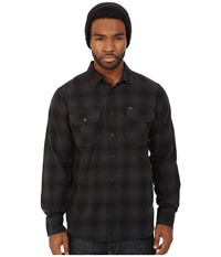 Obey Huddle Long Sleeve Woven Shirt Black Multi Men's Long Sleeve Pullover