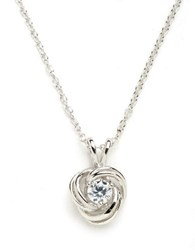 Lord And Taylor Knot Pendant Necklace Silver