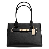 Coach Swagger Carryall Leather Bag Black