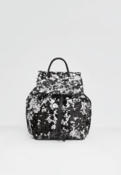 Missguided Black Multi Sequin Backpack