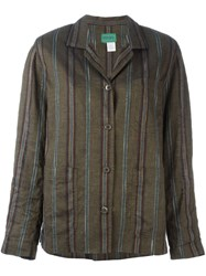 Kenzo Vintage Striped Jacket Green