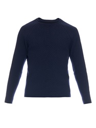 Oliver Spencer Waffle Weave Wool Sweater