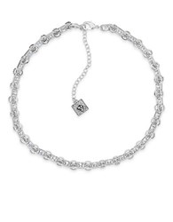 Anne Klein Cubic Zirconia Silvertone Collar Necklace