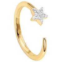 Missoma 18Ct Gold Vermeil Cosmic Nova Pave Star Ring Gold