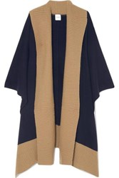 Madeleine Thompson Narvi Wool And Cashmere Blend Wrap Navy