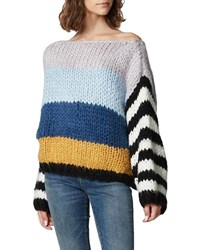 Blank Nyc Mixed Signals Chunky Knit Striped Sweater
