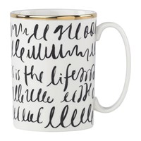 Kate Spade Everdone Lane Black And White Mug Writing
