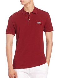 Lacoste Camo Croc Pique Polo Cocoa Dark Red White Navy Black Forest Green Charc