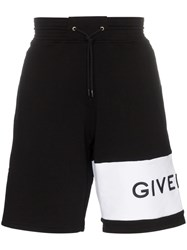 Givenchy Oversized Cotton Logo Track Shorts Black