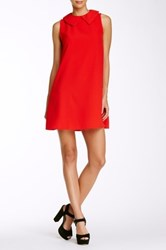 Painted Threads Peter Pan Collar Tank Shift Dress Red