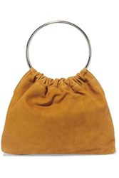 Little Liffner Ring Small Suede Tote Yellow