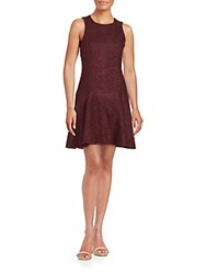 4.Collective Hyland Flared Wool Dress Burgundy