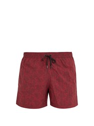 Danward Puzzle Print Swim Shorts Red Multi