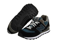 New Balance M574 Navy Teal Grey Men's Classic Shoes Blue