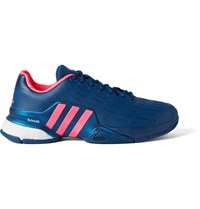 Adidas Sport Barricade 2016 Boost Coated Mesh Tennis Sneakers Blue