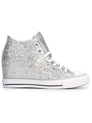 Converse High Top Concealed Wedge Sneakers Grey