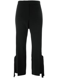 Calvin Klein Collection Strappy Detail Cropped Trousers Black