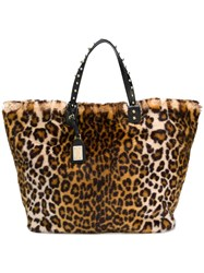 Dolce And Gabbana Leopard Print Tote Bag Nude And Neutrals