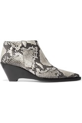 Acne Studios Cammie Snake Effect Leather Ankle Boots Snake Print