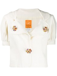 Christian Lacroix Vintage 1990'S Puffed Sleeves Blouse White