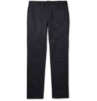 Paul Smith Slim Fit Stretch Cotton Twill Trousers Blue