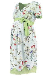 Sara' Summer Dress Mint Floral