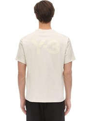 Y 3 Classic Cotton Jersey T Shirt Off White