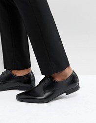 Pier One Leather Derby Shoes In Black