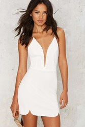 Nasty Gal Slippery Slope Plunging Dress