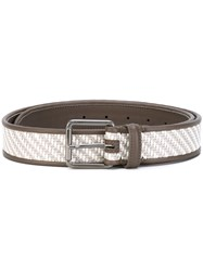 Ermenegildo Zegna Woven Belt Men Leather 110 Grey