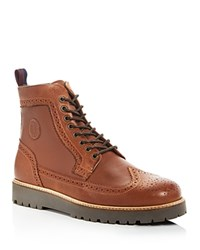 Fred Perry Northgate Wingtip Lace Up Boots Tan