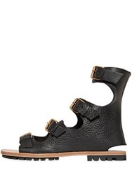 Vivienne Westwood Grained Leather Gladiator Sandals