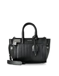 Zadig And Voltaire Xs Candide Black Leather Satchel Bag
