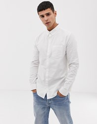 New Look Oxford Shirt In Regular Fit In White