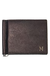 Men's Cathy's Concepts Personalized Leather Wallet And Money Clip Brown Brown M