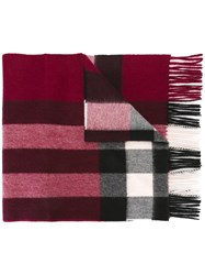 Burberry Checked Embroidered Scarf