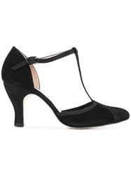 Repetto T Bar Pumps Black