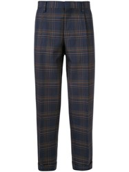 Kolor Cropped Checked Print Trousers 60