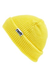 Men's Neff 'Fold' Beanie Yellow