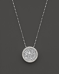 Bloomingdale's Diamond Mosaic Pendant Necklace In 14K White Gold 1.45 Ct. T.W.