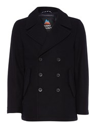 Army And Navy Milton Pea Coat Navy