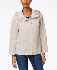 Charter Club Petite Hooded Utility Swing Jacket Only At Macy's Sand