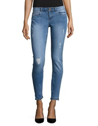 Noisy May Eve Distressed Skinny Jeans Light Blue