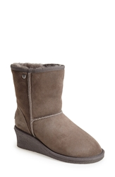 Koolaburra 'Savannah Ii' Genuine Shearling Wedge Boot Women Grey