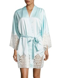 Flora Nikrooz Floral Laced Robe Bridal Blue